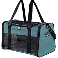 Risan Pet Transport Carrier Bag for Small Dogs Puppy Kittens Shihtzu Birds Airline Travel Breathable Mesh Panels for…
