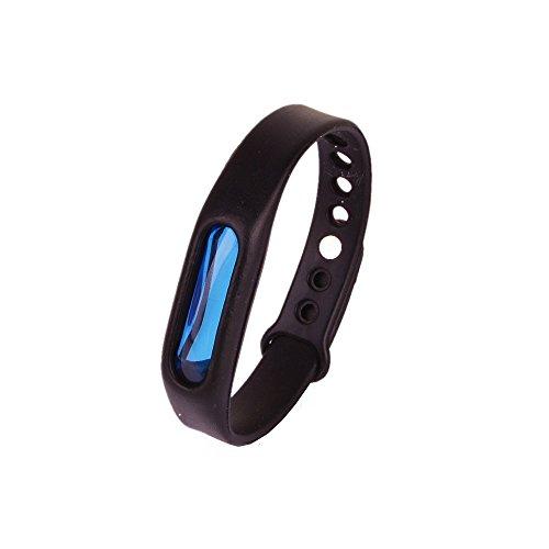 Kroo Mosquito Armband Insektenschutzmittel Armband Schutz und verstellbarer Armband Gurt für Babys Audlt und Haustiere schwarz