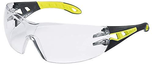 Uvex Pheos S Schutzbrille - Supravision Excellence - Transparent/Schwarz-Lime