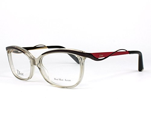 Dior Für Frau Cd3280 Dior Metal Eyes Transparent Grey / Brown / Red Kunststoffgestell Brillen