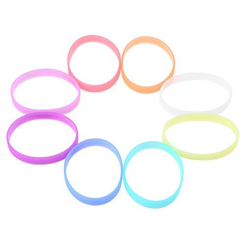 NUOBESTY 24 stücke silikon armbänder armbänder glühende armbänder für Kinder Party Favor (8 Farben)