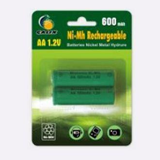 1,2 V Nimh Aa-batterie (2 aufladbare Batterien AA - Ni-MH 600 mAh)