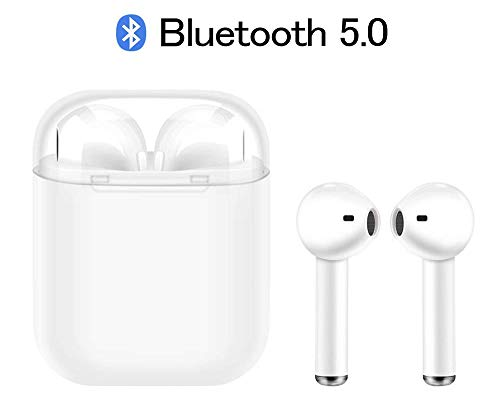 Auriculares Inalámbricos Bluetooth 5.0, i9 TWS Stereo Manos Libres Deportivo Cascos con Funda de Carga, Sin Cable Headphones para Sony Mi Huawei LG Samsung Apple iPhone