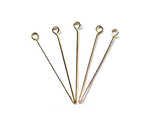 (Accessoire pièces / raccords métalliques) 9 broches 0,8 x 65 mm couleur or 5 grammes (16 pièces)