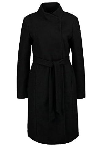 ONLY ONLHOUSTON Damen Wollmantel / klassischer Mantel black schwarz GR:
