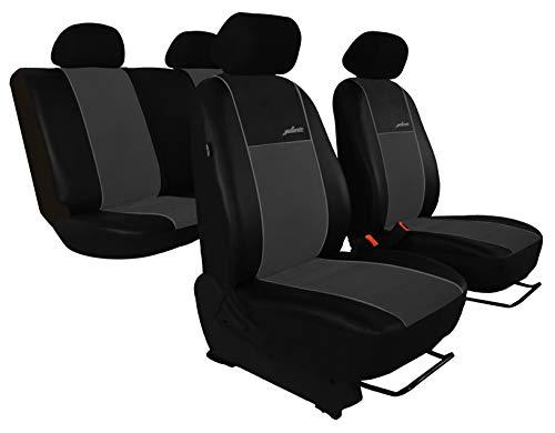saferide | Similpelle Beige 5-Sedile Coprisedilli Anteriori Auto Completo Copertura del Sedile dell Automobile Fatto Su Misura Protezioni Proteggi Sedile Macch