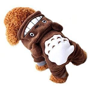 Disfraz de Totoro Marrón para Perros Pequeños