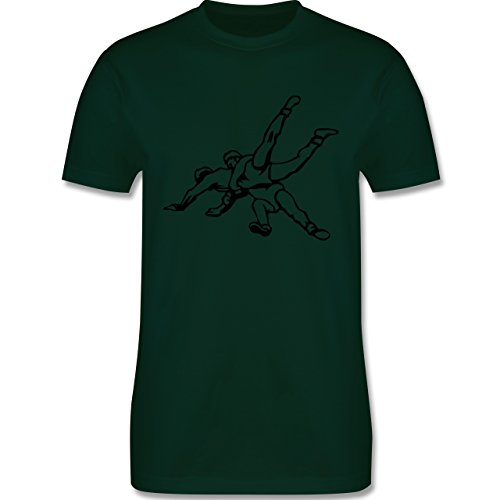 Kampfsport - Ringen - Herren Premium T-Shirt Dunkelgrün