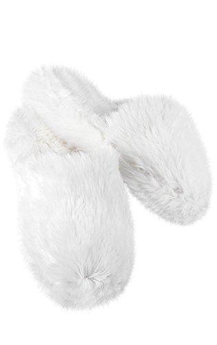 Pajamagram fuzzy wuzzies - pantofole pelose da donna - bianco - m