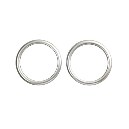 Yuzhongtian matter Armaturenbrett-Lautsprecher-Ring aus ABS-Kunststoff, für die Verwendung in der Mitte des Armaturenbretts, dekorative Verkleidung, Auto-Zubehör, MZX3, 2 Stück Iso Trim Ring