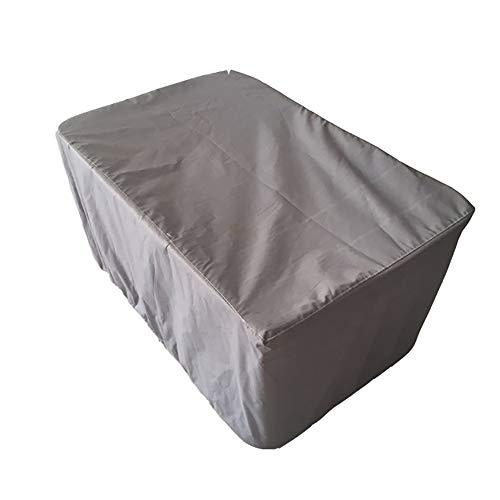 YINUO Oxford Cloth Outdoor Gartenmöbel Wasserdichte Staubschutz Gartentisch Und Stuhl Sonnencreme Maschine Abdeckung Eine Vielzahl Von Größen Erhältlich Grau (Size : 120x120x74cm)