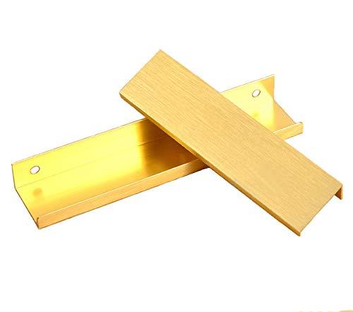 Versteckt Griff (Kfz-Ablage, Schrank, Frisierkommode Kleiderschrank-Türen, Griffe, versteckte Schneide mit verdeckter Schublade, Griffe, Gold-Aluminium-Knöpfe, gold)