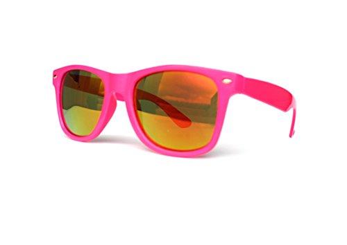 50er 60er 80er 90er Jahre Vintage Sonnenbrille Sommerbrille Clubmaster Style Rockabilly Trend 2017 2018 Mode Fashion Fashionbrille Designer Brille neon pink