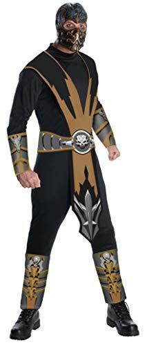 Rubie 's Offizielles Mortal Kombat Scorpion, Erwachsene (Mortal Kombat Subzero Für Erwachsenen Kostüm)
