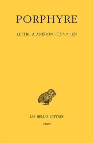 Lettre à Anébon l'Égyptien