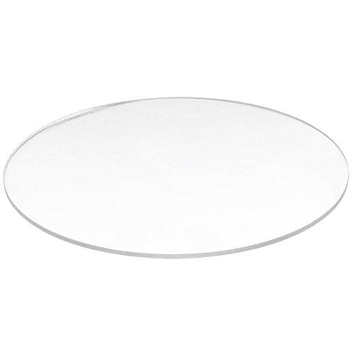 TOOGOO Transparent 3Mm Starker Spiegel Acryl Runde Scheibe Durchmesser: 50Mm