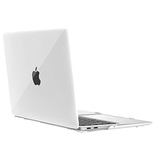 MoKo Hülle für MacBook Air 13 Zoll 2018 Modell A1923, Dünn PC Harte Schale Matte Schutzhülle - Weiß
