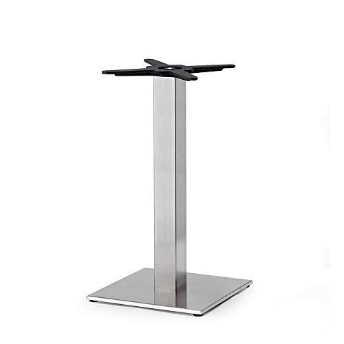 Scab Set 2 Design Tiffany Base Table h. 73 cm Pilier carré Acier INOX Mat