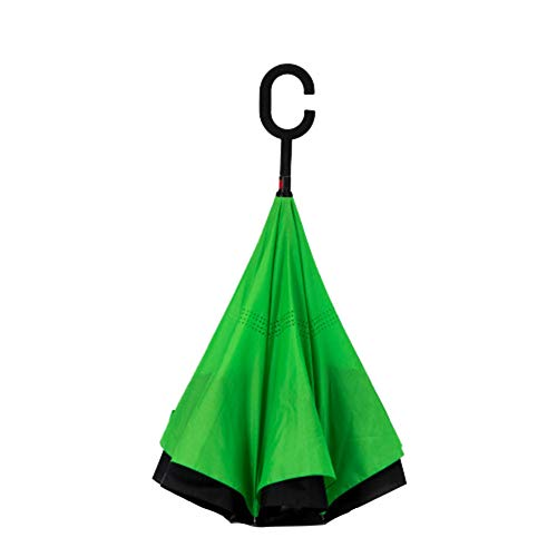 ZHEDAN Paraguas Reversible Autoportante