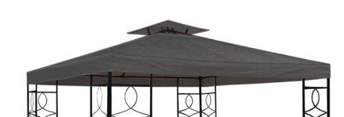 Pavillon Ersatzdach mit PVC Beschichtung (wasserdicht) - 3x3 Meter - 270 gr/m² Polyester (Anthrazit)