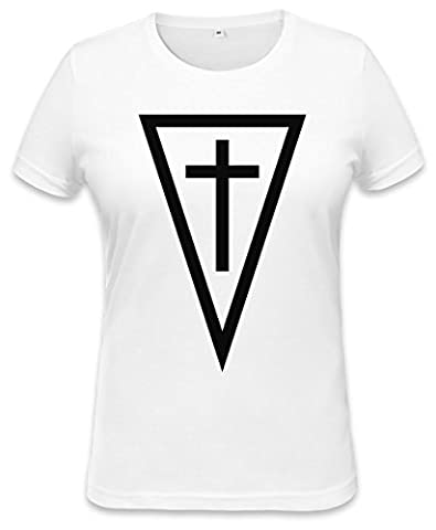 God Cross In A Triangle Womens T-shirt XX-Large