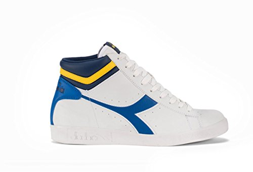 Diadora chaussure Sneaker Running Jogging Homme Game P High W WHT/skydiver/Vibrant Yell Bianco