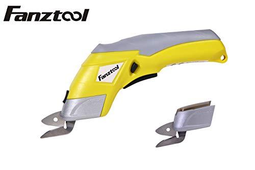 FANZTOOL Akku-Universalschneider Akkuschere Lederschneider Teppichschere Kartonschneider (Schere Set)