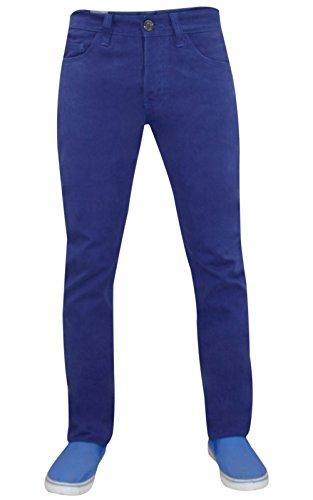 Jack Sud da uomo Designer Kushiro City Twill Chino Regular Fit jeans pantaloni Ramp-Sodalite Blue 34W x 31L