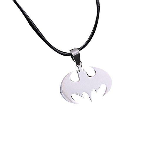 Collar de Batman Yazilind joyería con cadena de cuero