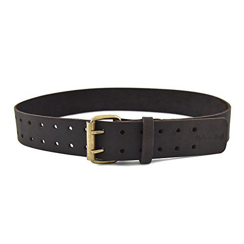 two-inches-wide-work-belt-in-heavy-top-grain-oiled-leather-with-double-prong-roller-buckle