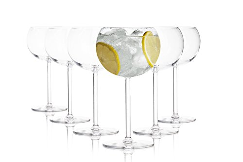 Tivoli ' Fusion ' Gin Tonic copas / 500 ml / juego de 6 / ideal para fiestas y cócteles / diseño elegante / apto para 6 personas