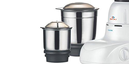 Bajaj Glory 500W Mixer Grinder (White, 3 Jar)