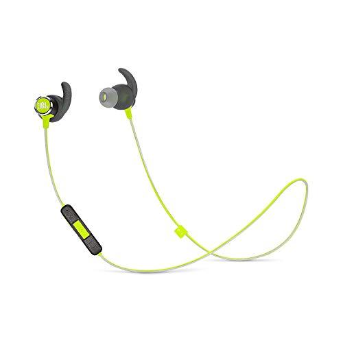 JBL Reflect Mini 2 Bluetooth Kopfhörer in Grün - Sport Headphones wasserabweisend - Wireless In Ear Kopfhörer kabellos - Bis zu 10 Stunden Akkulaufzeit -