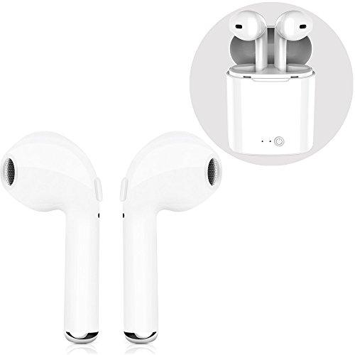 Kabelloses Headset, Bluetooth-Headset, Mini-In-Ear-Kopfhörer mit Aufladeset Real Wireless Earbud Sport-Kopfhörer für iPhone X/8/7/6/6s plus und die meisten Android-Smartphones