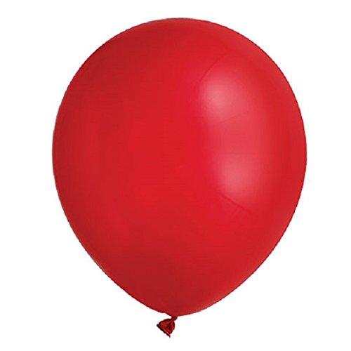 100 piezas 12 '(30 CM) Globos de alta calidad Pearlised Metálico Aire o Helio Boda Cumpleaños Fiesta de Navidad Decoración Disponible en 14 colores (Rojo)