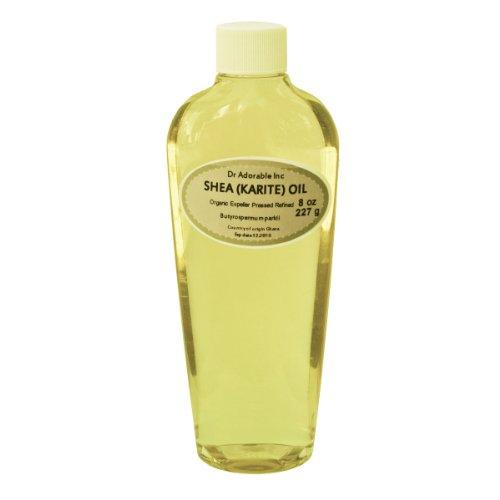 Shea Karite Oil Refined Pure Organic 8 Oz