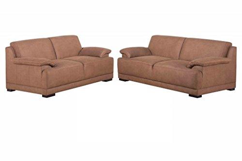 ALESSANDRIA Boxspringsofa 2-Sitzer 3-Sitzer Garnitur Sofa Couch Kamel