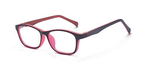 Nerd Arbeit Kostüm Für - ALWAYSUV Kinder Nerd Gefälschte Gläser Klare Linse Farbige Arme Geek Kostüm Kinder (Alter 3-10) Roter Rahmen