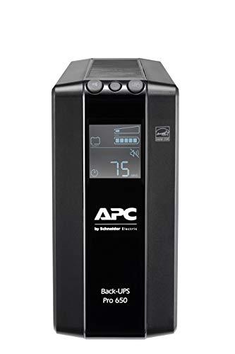 APC by Schneider Electric Back UPS PRO - BR650MI - UPS 650VA Leistung - MI modell (6 IEC Outlets, IEC - Kaltgeräte Ausgänge, LCD interface, 1GB Dataline protection)