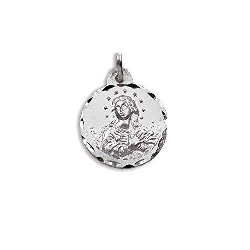 Medalla Religiosa - Medalla Virgen Purísima 19 mm. Plata de Ley 925 milésimas.