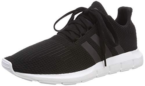 adidas Unisex-Kinder Swift Run-j Gymnastikschuhe, Schwarz (Core Black/Weiss/Black/Ftwr White Core Black/Weiss/Black/Ftwr White), 38 EU (5 UK)