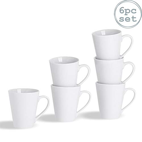 Argon Tableware Tasses Blanches pour Le thé ou pour Le café Latte - 285 ML (10 oz) - Boîte de 6