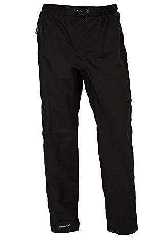 Mountain Warehouse Downpour Pantalon courte longueur Femme Imperméable Anti Pluie Randonnée Moto Plus Court Noir 40