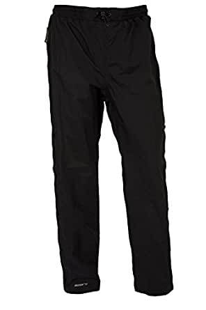for Travelling Taped Seams with Half Zip Breathable Hiking Black 10S Durable Overtrousers Rain Pants Mountain Warehouse Downpour Womens Waterproof Trousers
