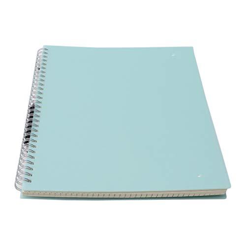 SUNSKYOO A5 Notizbuch Doppelspulen Ring Matt Cover Tagebuch Spiral Blank Grid Line Innerhalb Papier Notizbuch, B5 Blue Dot Array (Fester Einband Draht-notebook)