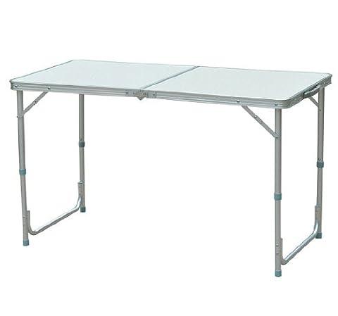 TABLE DE CAMPING RÉCEPTION PLIANTE PORTABLE PIQUE-NIQUE BUFFET EN ALUMINIUM NEUF 400