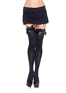 Leg Avenue- Mujer, Color negro, Talla Única (EUR 36-40) (601022001)