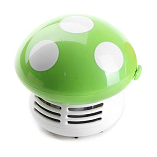 Togames-ES Mini Mushroom Desk Cleaner Aspiradora Linda Portable Corner Desk Table Sweeper Colector de Polvo para El Coche Ordenador En Casa