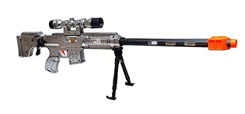 GYD Sniper SCHARFSCHÜTZENGEWEHR Elite mit Sound Licht AWP !! Silber