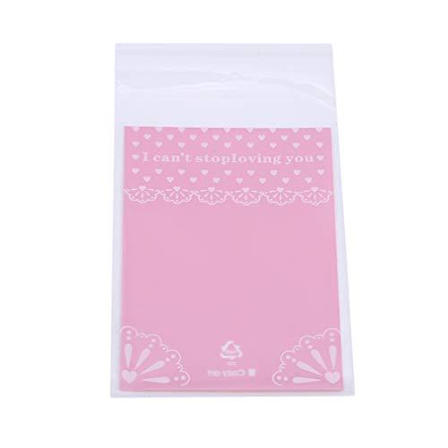 LIGHTBLUE Rosa Herz Geschenk Tasche Kleines Paket Schöne Fantasie Farbe Süßigkeiten Cookie Bag 100 Teile / ()